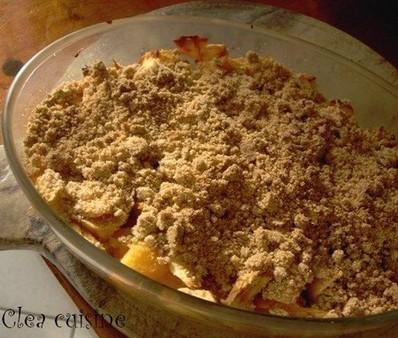 crumble pommes coings sans oeufs sans lait