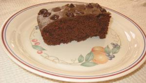 Gâteau au chocolat et à la banane