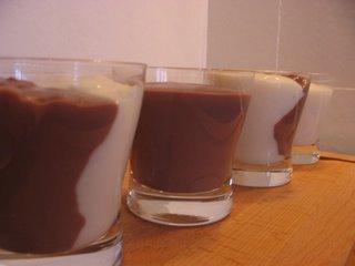 Crème chocolat vanille sans oeufs, sans gluten