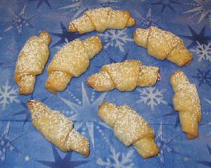 Rugelach sans oeufs - petits croissants enneigés