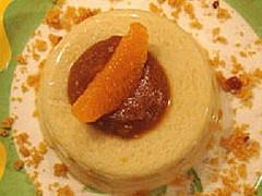 Entremets à la noix de coco et sa crème au pain d'épices sans oeufs