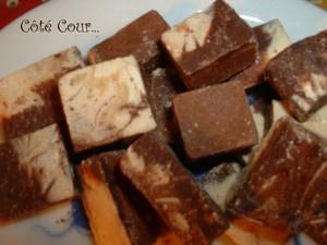 Bouchées marbrées aux 2 chocolat, sans oeufs, sans gluten