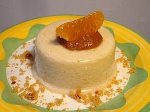 Entremets à la noix de coco et sa crème au pain d'épices sans œufs