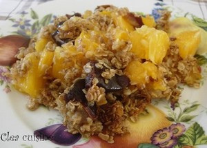 Crumble orange dattes sans œufs sans lait