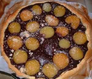 Tarte abricot chocolat sans oeufs