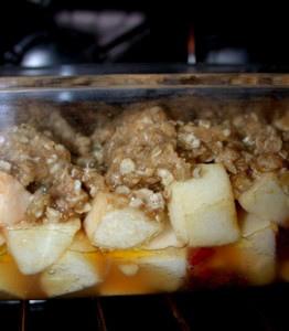 Crumble aux pommes et flocons d'avoine sans oeufs