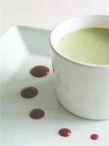 Pana cotta / panacotta chocolat blanc thé vert sans oeufs sans gluten
