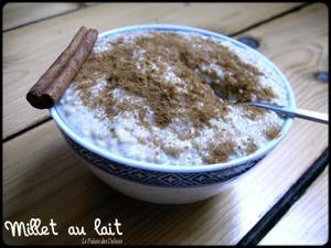 Millet au lait de soja sans oeufs, sans lait
