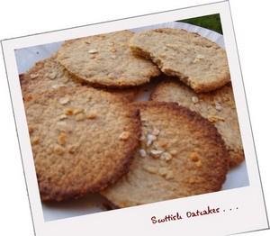 Scottish Oatcakes sans œufs sans lait