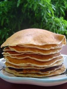 Pancakes aux flocons d'avoine sans oeufs