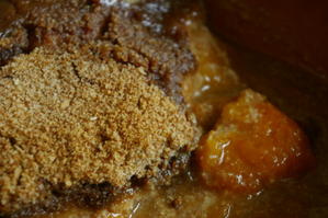 Crumble aux abricots, amandes et cannelle sans œufs