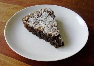 Gâteau chocolat noix de coco sans gluten sans lait