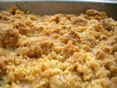 Crumble pommes noisettes sans oeufs