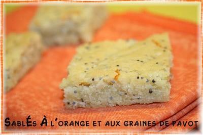 Sablés à l'orange et aux graines de pavot sans oeufs