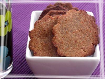 Biscuits apéritif à la farine de châtaignes sans gluten