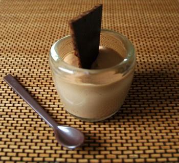 Mousse au chocolat au lait sans oeufs