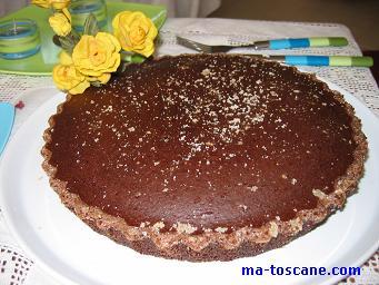 Gâteau au chocolat, zestes d'orange et cannelle sans œufs
