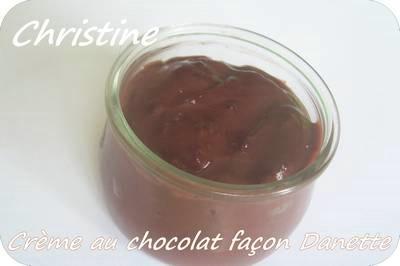 Crème au chocolat façon Danette sans oeufs