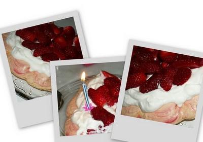 Pavlova aux fraises sans lait sans gluten