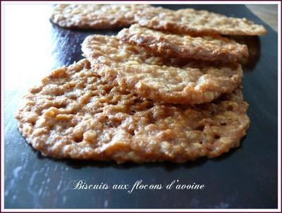 Biscuits aux flocons d'avoine sans oeufs