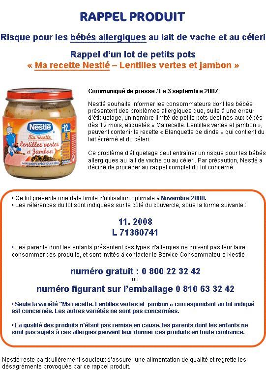 Communiqué de Presse Nestlé