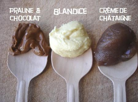 Sablés fourrés - praline, blandice, crème de châtaignes