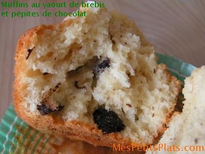muffins au yaourt de brebis et p pites de chocolat sans lait. Black Bedroom Furniture Sets. Home Design Ideas