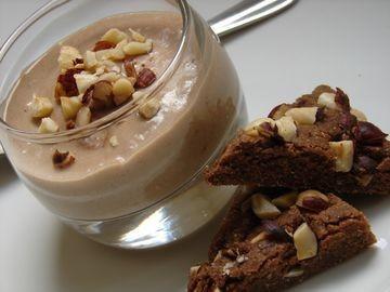 Petites crèmes aux bananes, amandes et caroube - sans oeufs, sans lait, sans gluten