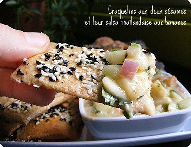 Crackers aux deux sésames sans gluten, sans oeufs, sans lait