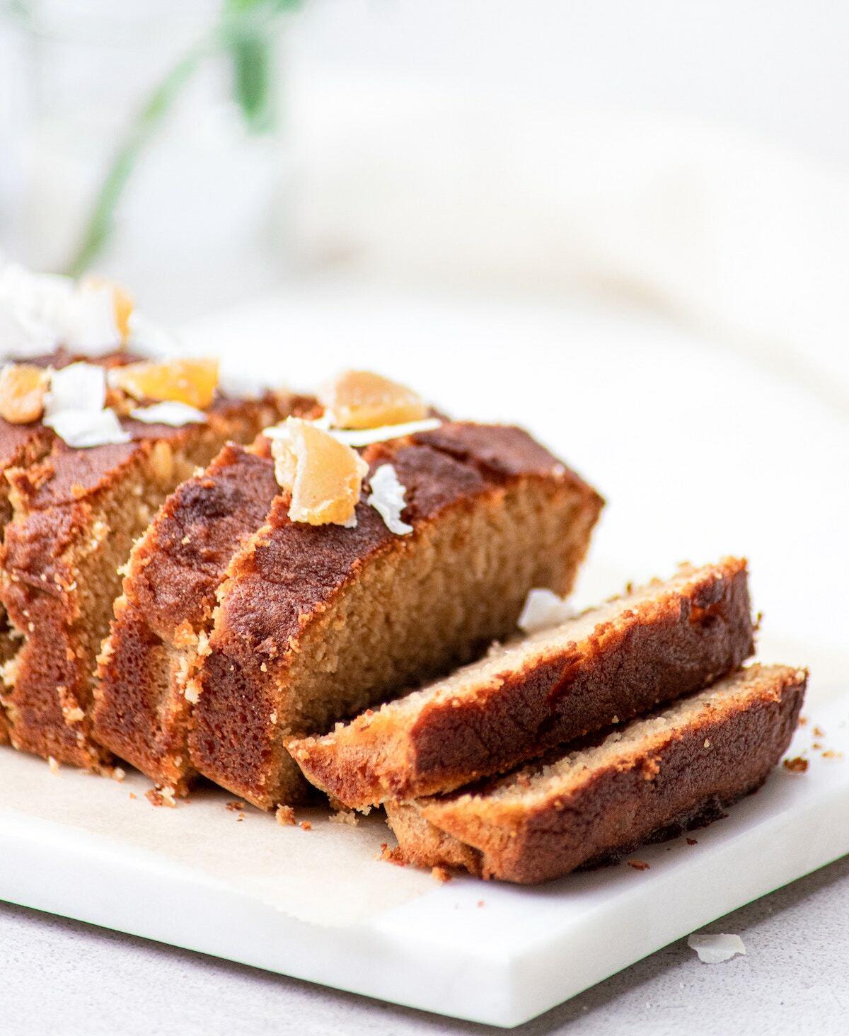 Cake au gingembre confit