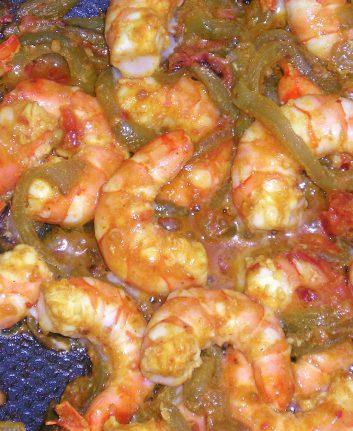 Crevettes sauce piquante