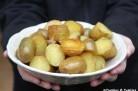 Pommes de terres nouvelles rôties au gros sel au romarin et à l'ail