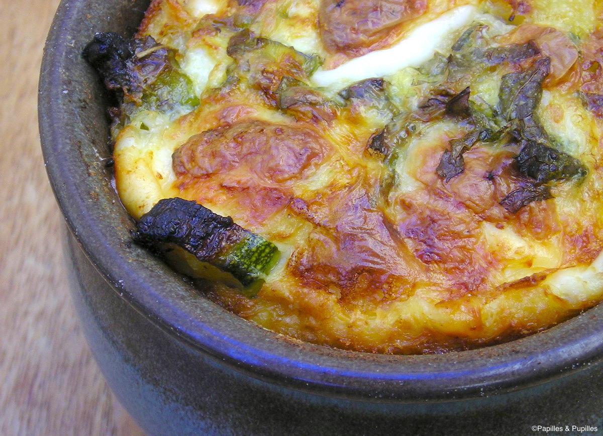Clafoutis de courgettes à la menthe et à la mozzarella
