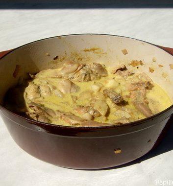Curry de lapin aux poires