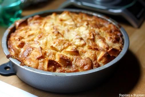 Gâteau aux pommes - A la sortie du four