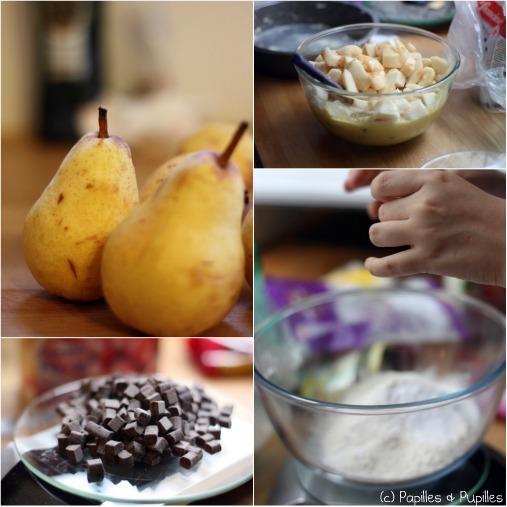 Gâteau poires chocolat - Les ingrédients