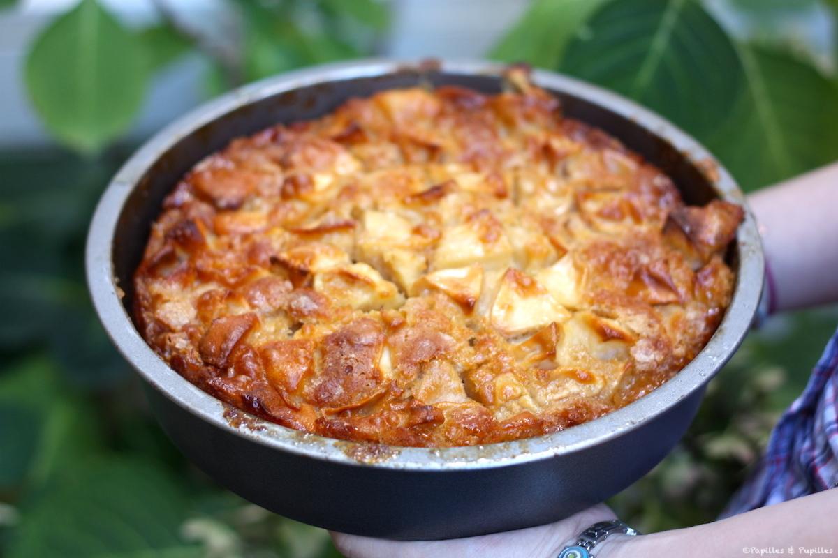 Gâteau aux pommes {moelleux et caramélisé}