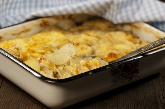 recette de gratin de pommes de terre aux champignons. Black Bedroom Furniture Sets. Home Design Ideas