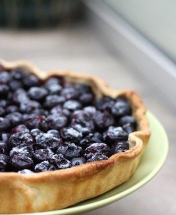 Tarte aux raisins noirs