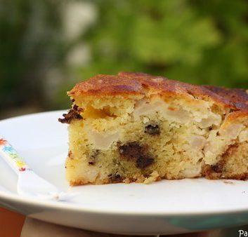 Gâteau rapide poires chocolat
