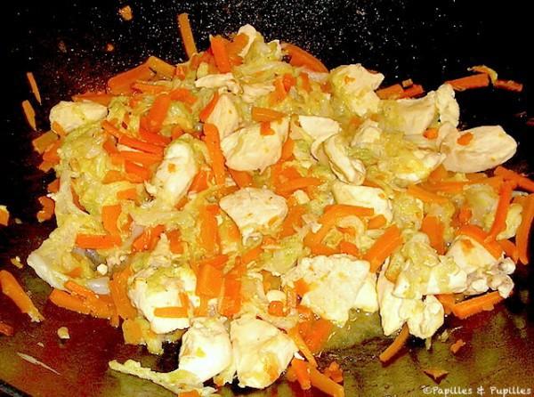 Wok de poulet au chou chinois - Cuisiner du choux chinois ...