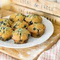 Muffins aux bleuets sans oeufs sans lait