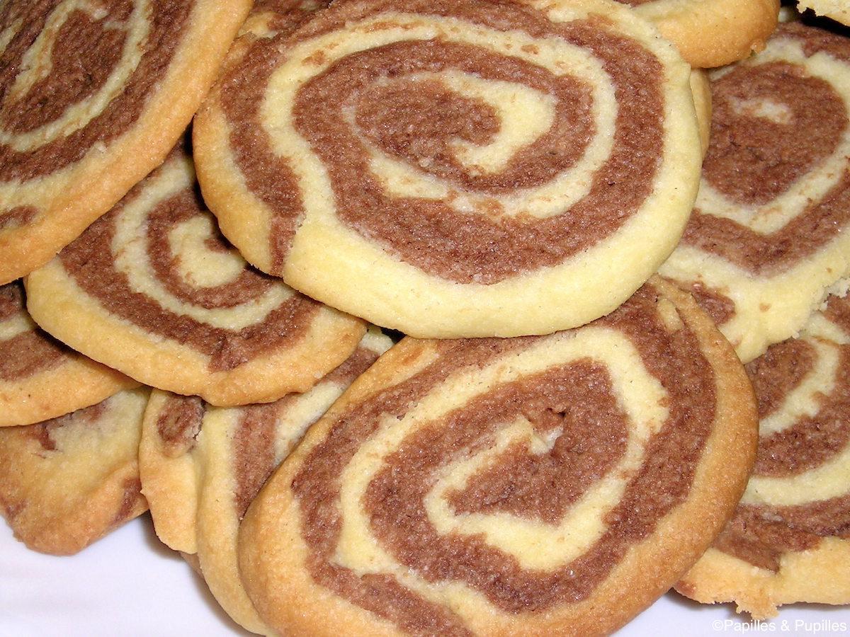 Pinwheels chocolat vanille sans oeufs