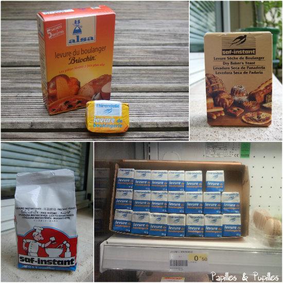 Levure de boulanger, fraiche ou déshydratée