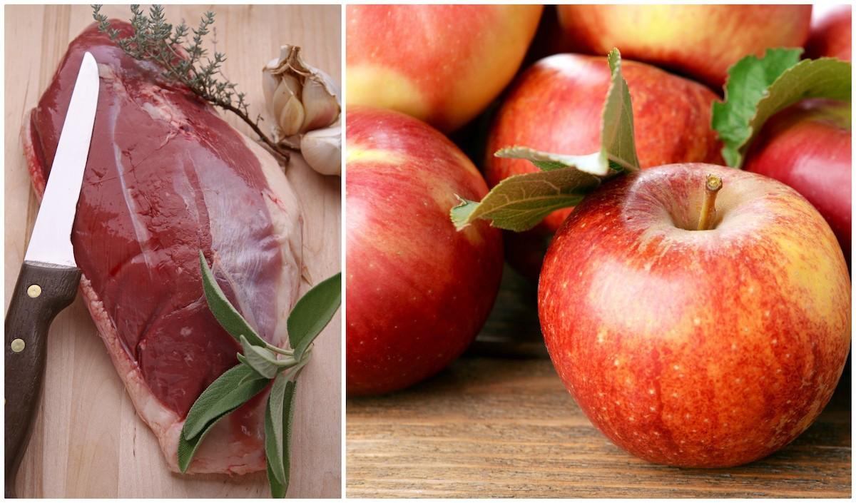 Magret et pommes ©Shutterstock