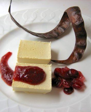 Panacotta aux cranberries