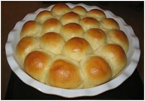 Petits pains dans un moule