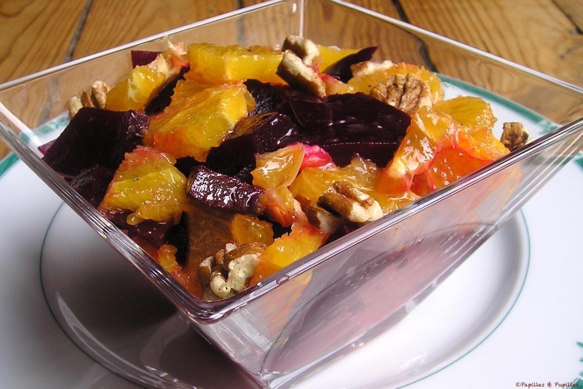 Salade d'orange et betterave