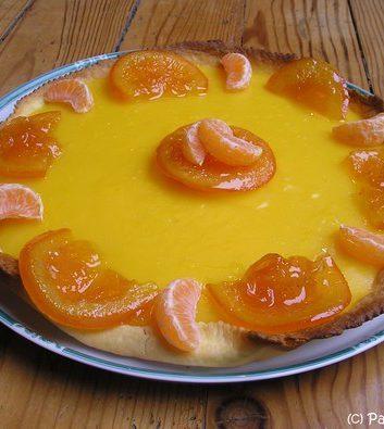 Tarte à l'orange et aux clémentines