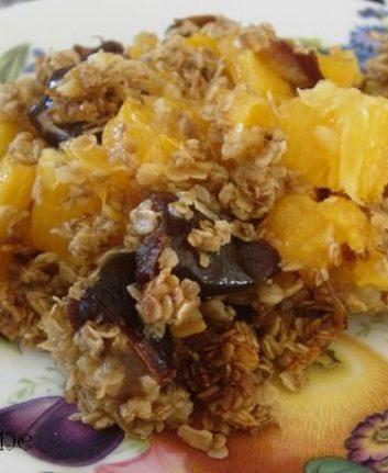Crumble oranges dattes dans oeufs sans lait
